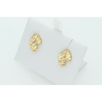 10 Karat Gold Nugget Earrings