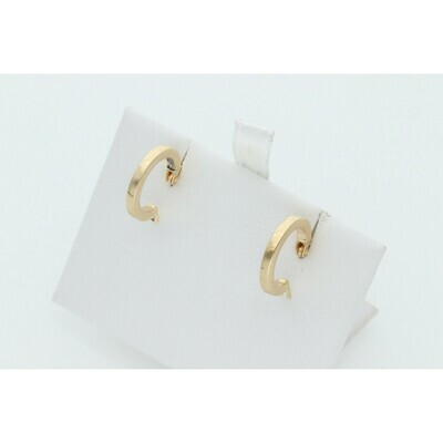 14 Karat Gold Small Hoops Earrings W: 1.1 ~