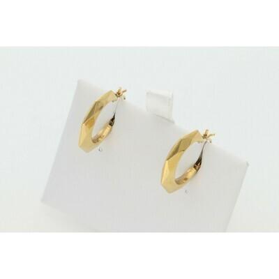 10 karat Gold Octa Hoops
