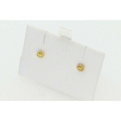 10 Karat Gold & Diamond Yellow  Fleur Studs Earrings