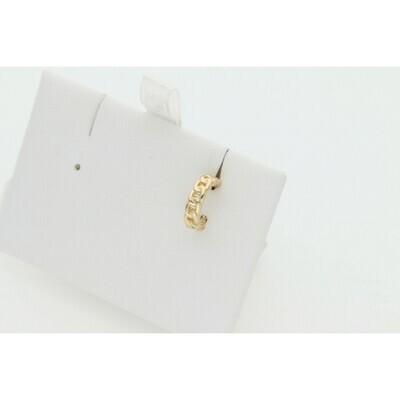 14 Karat Gold Miami Cuban Link Fake Ear Piercing W: 0.8 $