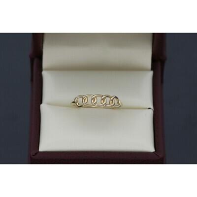 14 Karat Gold Italian Curb Ring
