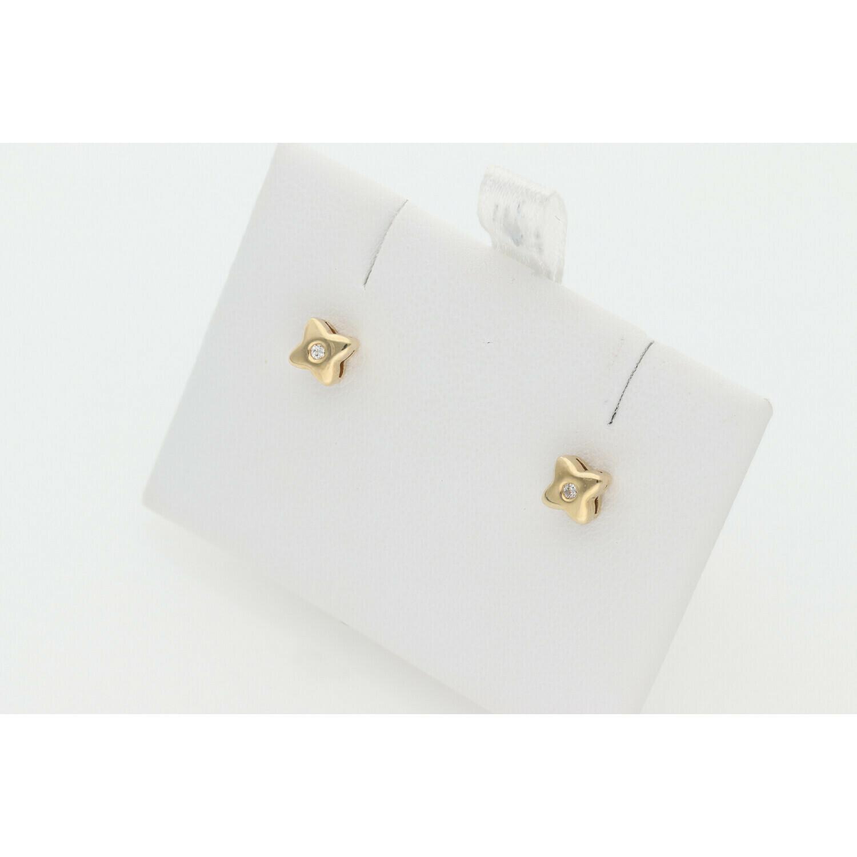 14 karat Gold & Diamonds Square G-VS2 Earrings