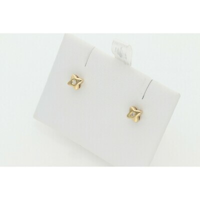 14 karat Gold & Diamonds Square G-VS2 Earrings