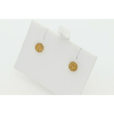 10 Karat Gold & Yellow Diamond Bubble Earrings
