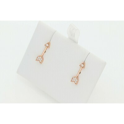 14 karat Gold & Diamond Arrow Stud Earrings