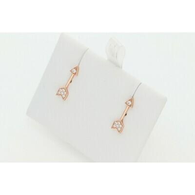14 karat Gold & Diamond Arrow Stud Earrings