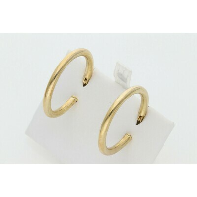 10 Karat Gold Medium Hoops Earrings W: 2.0 ~