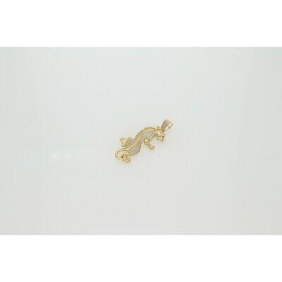 10 Karat Gold & zirconium Panther Charm