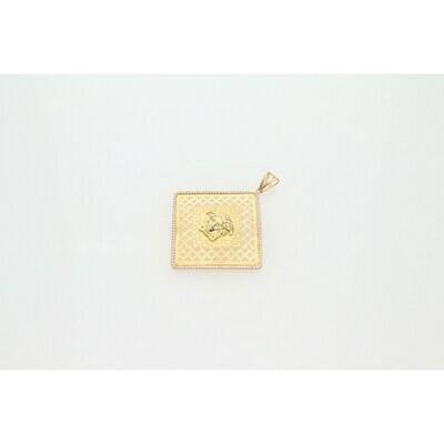 10 Karat Gold & Zirconium Maze Medusa Charm