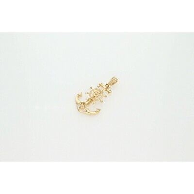 14 Karat Gold Anchor Charm