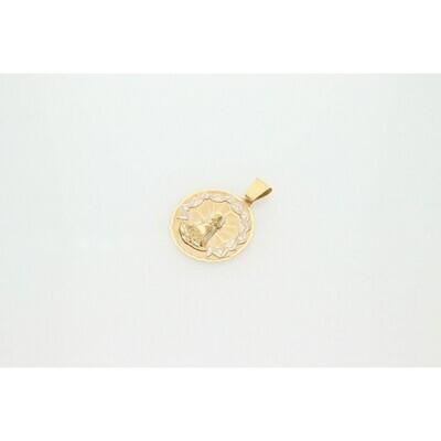 10 Karat Gold & Zirconium Two Tone Caridad del Cobre Medal