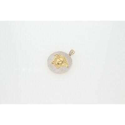 10 karat Gold & Zirconium Medusa Medal