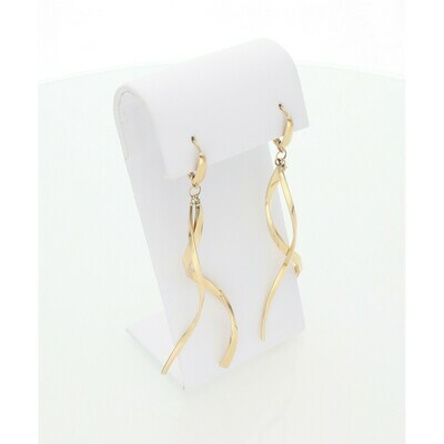 14 Karat Gold Curved Stick Earrings