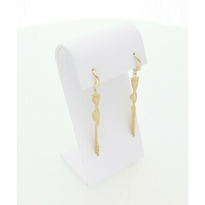 14 Karat Gold Fabcy Moon Earrings W: 3.2 ~