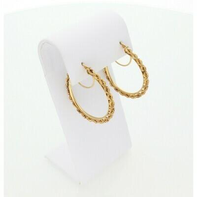 10 Karat Gold Rope Hoops