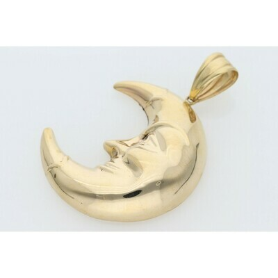 10 Karat Gold Waxing Crescent Moon Charm