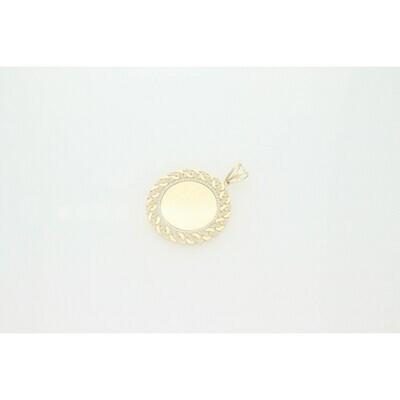 10 Karat Gold & Zirconium Miami Cuban Link Memory Medal