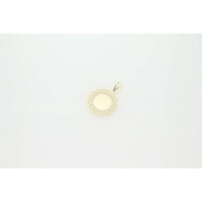 10 Karat Gold & Zirconium Miami Cuban Link Edge Photo Charm