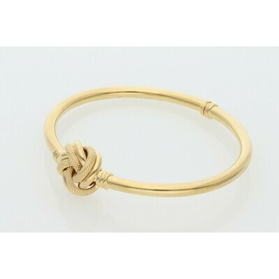 10 Karat Gold Textured Knot Bangle