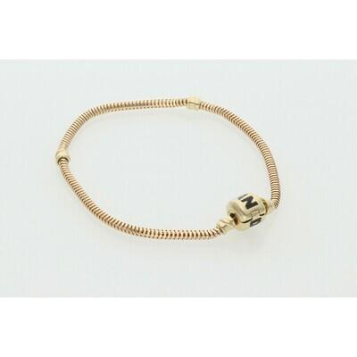 14 Karat Gold & Zirconium Fancy P Bracelet