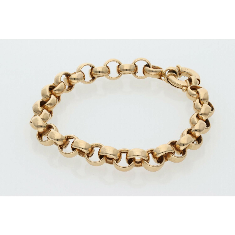 14 Karat Gold Thick Style Rollo Bracelet