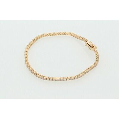 14 Karat Gold & Zirconium Tennis Bracelet