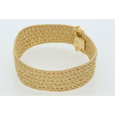 10 karat Gold Fancy Bracelet 18.5mm x 7.5