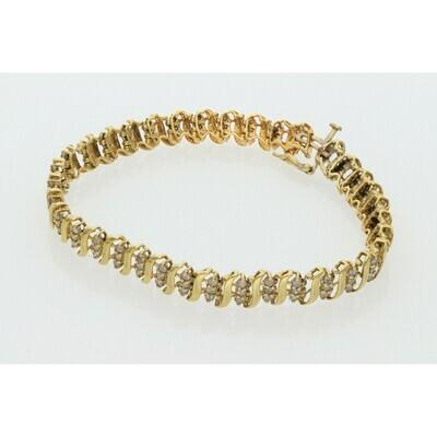10 Karat Gold & Diamond Tennis Bracelet