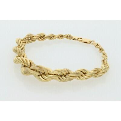 10 Karat Gold Rope Bracelet Double Width