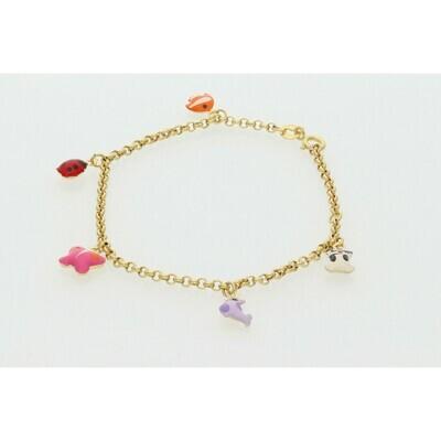 10 Karat Gold Emoji Children Rollo Bracelet