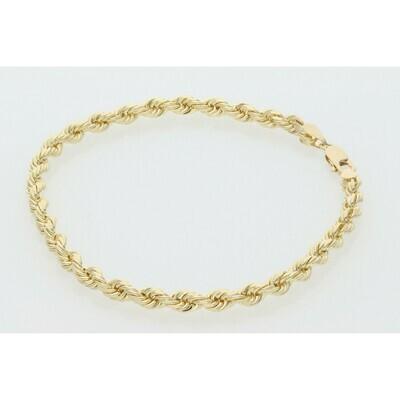 10 Karat Solid Gold Rope Bracelet