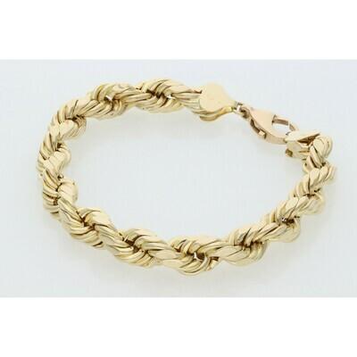 10 Karat Gold Rope Bracelet