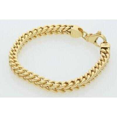 10 Karat Gold Franco Bracelet