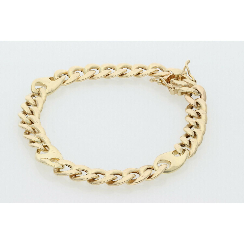 10 karat Gold Miami Cuban Link Puff Style Bracelet