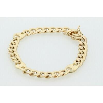 10 karat Gold Miami Cuban Link Puff Style Bracelet 8.9 mm x 8