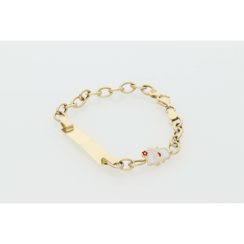 10 Karat Gold Hello Kitty Rollo ID Bracelet