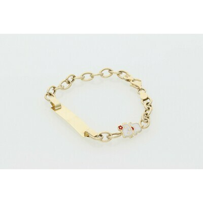 10 Karat Gold Hello Kitty Rollo ID Bracelet