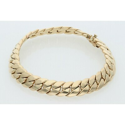 10 Karat Gold Italian Miami Cuban Link Bracelet