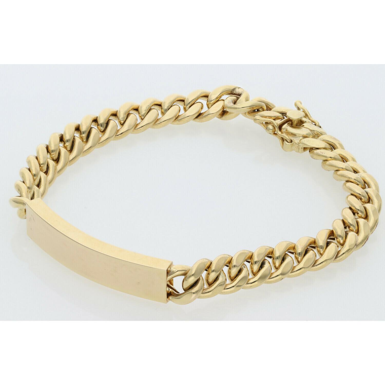 10 Karat Gold Miami Cuban Link ID Bracelet