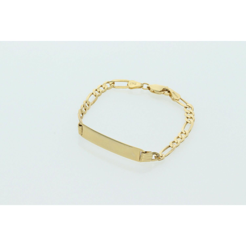 10 Karat Gold Baby ID Figaro Bracelet