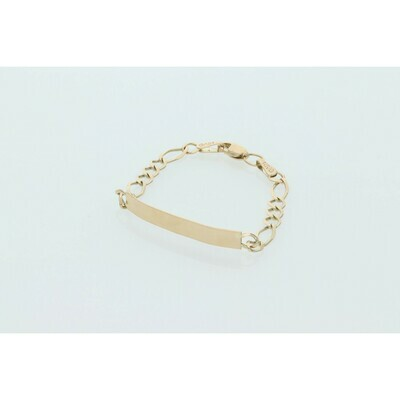 10 Karat Gold ID Figaro Baby Bracelet