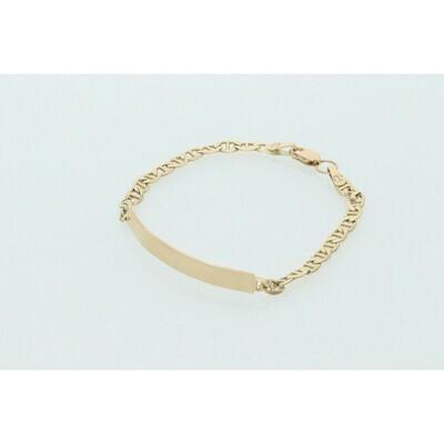 10 karat Gold ID Fancy G Link Bracelet