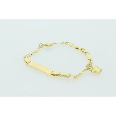 10 Karat Gold Fancy G ID & Mini Charms Bracelet
