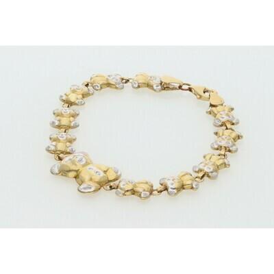 10 Karat Gold Teddy Bear Bracelet