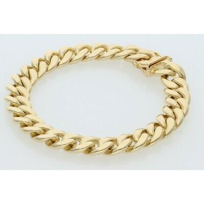 10 Karat Solid Gold Miami Cuban Link Bracelet