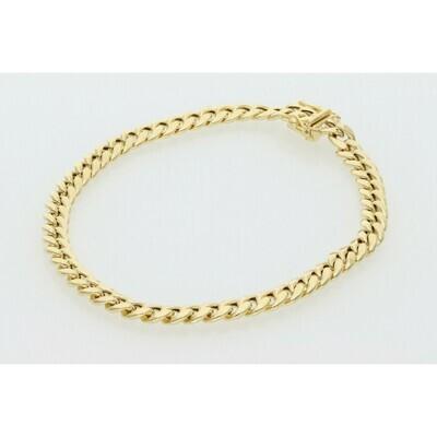 10 Karat Gold Miami Cuban Link Bracelet 5 millimeters