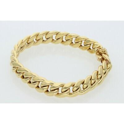 10 Karat Gold Miami Cuban Link Bracelet 10 Millimeters