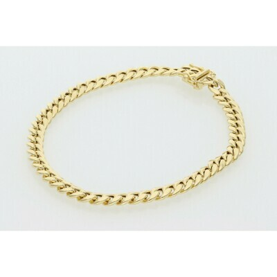 14 Karat Gold Miami Cuban Link Bracelet