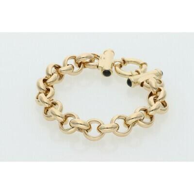 14 Karat Gold Thick Rollo Bracelet